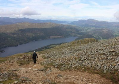 Descending from Helvellyn down to Thirlmere